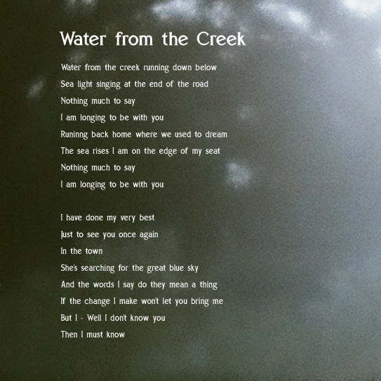 water from the creek